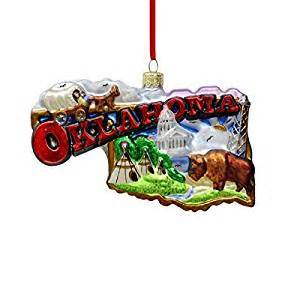 "Noble Gems ""Oklahoma"" Ornament"