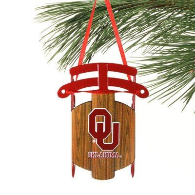 OU Sled Ornament