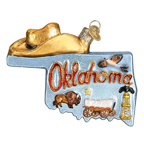 "Old World Christmas ""Oklahoma"" Glass Ornament"