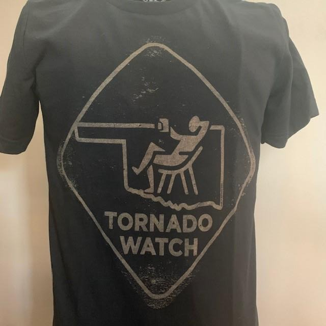 Harvey Nicole - Tornado Watch T-Shirt (Black & Gray) (XS and S Sizes Only)