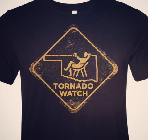 Harvey Nicole - Tornado Watch T-Shirt (Black & Yellow- Sizes XS - XL Available)