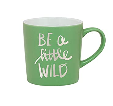 "About Face Designs - ""Be a Little Wild"" Ceramic Mug"