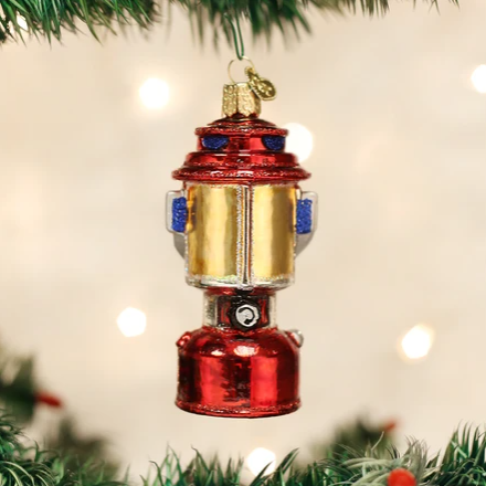 "Old World Christmas ""Camping Lantern"" Glass Ornament"