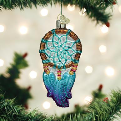 "Old World Christmas ""Dream Catcher"" Glass Ornament"
