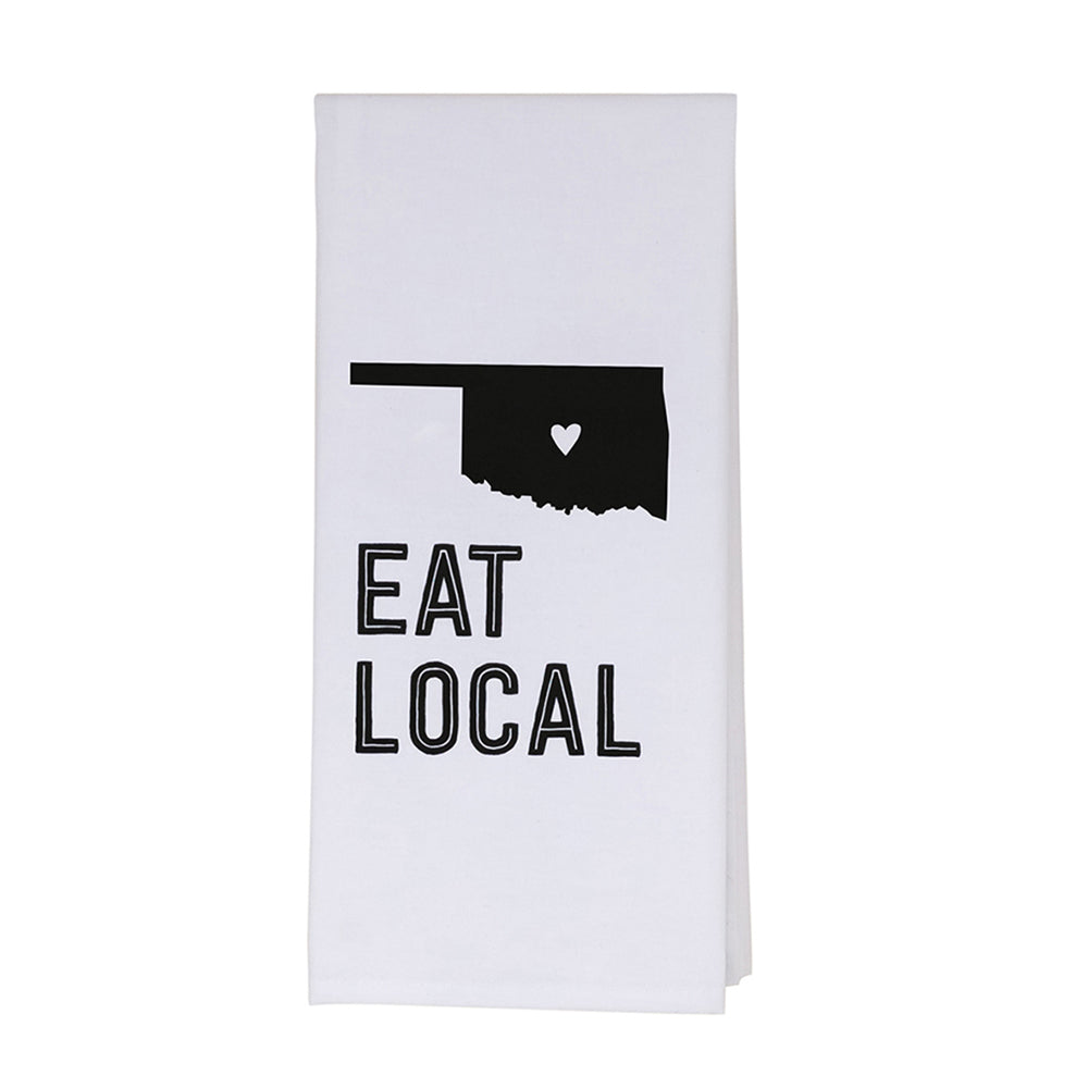 "About Face Designs - ""Eat Local"" Tea Towel"
