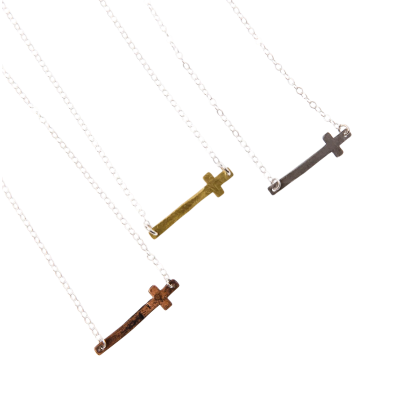 "EllaJude 18"" Cross Necklace"