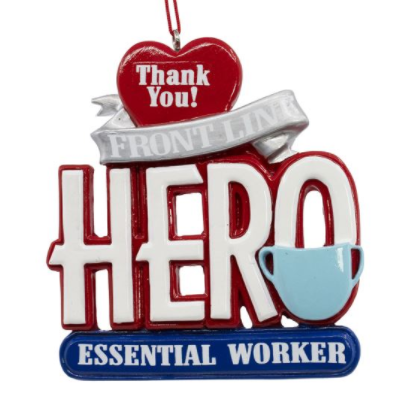 "Noble Gems ""Essential Worker Hero"" Resin Ornament"