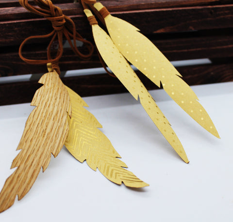 "8"" Paper Feather Ornament"