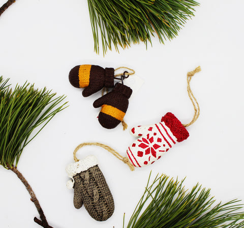Mitten and Glove Ornaments