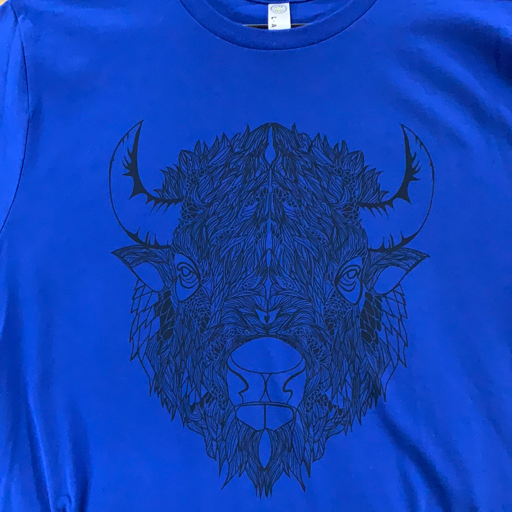 Kids Bison Head T-Shirt (Youth L, XL Only)