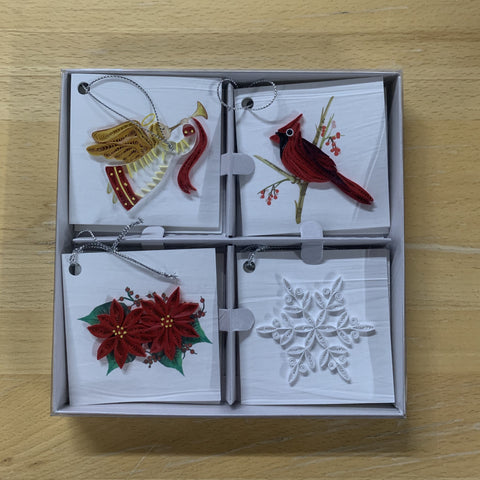 Quilling Card Holiday Gift Tag Box Set