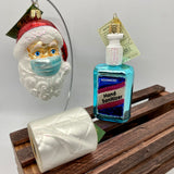 "Ultimate Old World Christmas ""2020"" Ornament Collection (Santa with Facemask, Hand Sanitizer, Toilet Paper)"