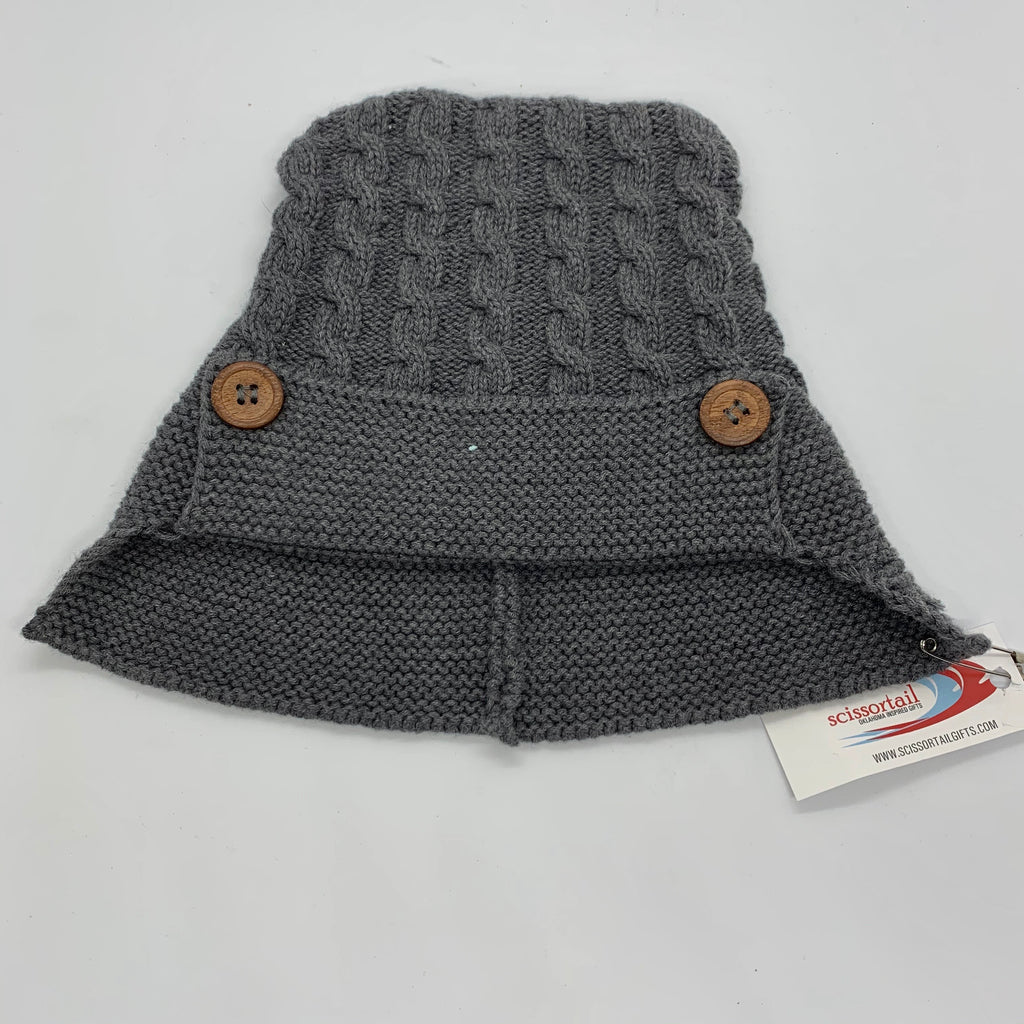 Kid's Knit Cap - Gray