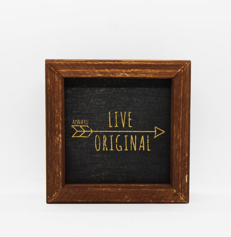 "Glory Haus ""Live Original"" / ""Love Makes Us Brave"" / ""You Can Do This"" Framed Board Art"
