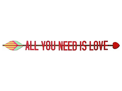 """All You Need is Love"" Metal Arrow Wall Decor"
