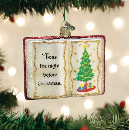"Old World Christmas ""Night Before Christmas"" Glass Ornament"