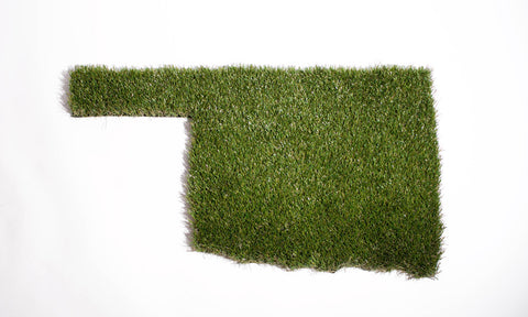 Oklahoma Shaped Grass Doormat