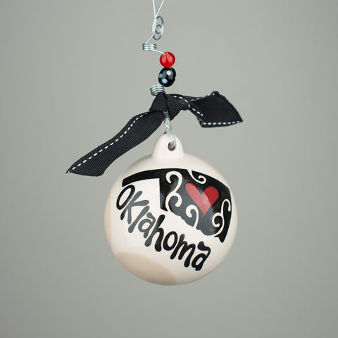 "Glory Haus ""Oklahoma Home"" Ball Ornament"