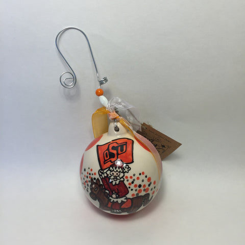 Oklahoma State University Ball Ornament