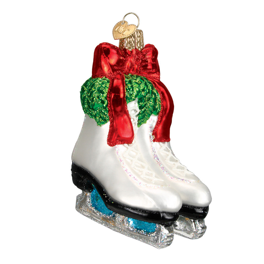 "Old World Christmas ""Holiday Skates"" Glass Ornament"