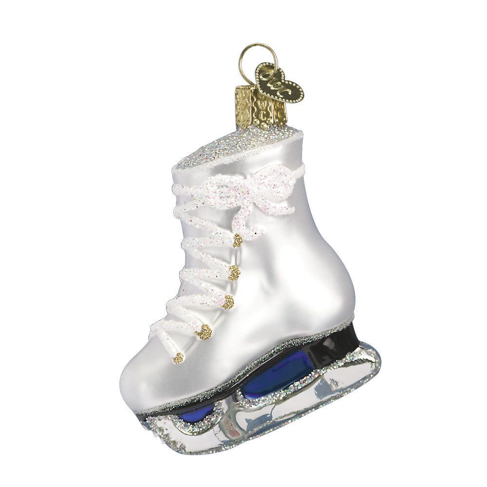 "Old World Christmas ""Ice Skate"" Glass Ornament"