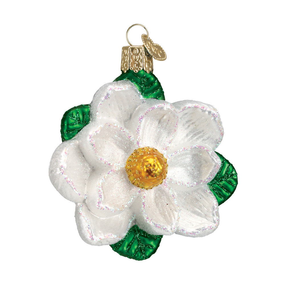 "Old World Christmas ""Magnolia"" Glass Ornament"