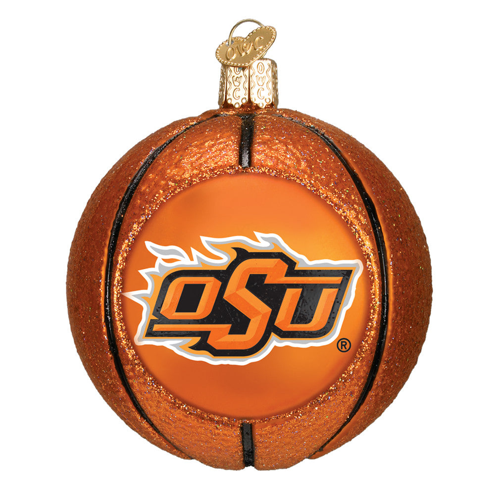 "Old World Christmas ""Oklahoma State Basketball"" Glass Ornament"