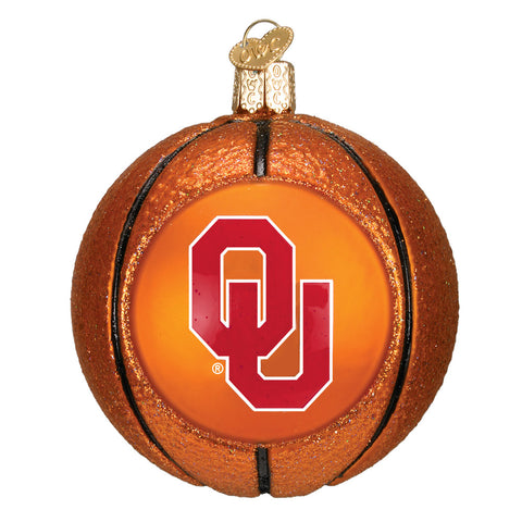 "Old World Christmas ""University of Oklahoma Basketball"" Glass Ornament"