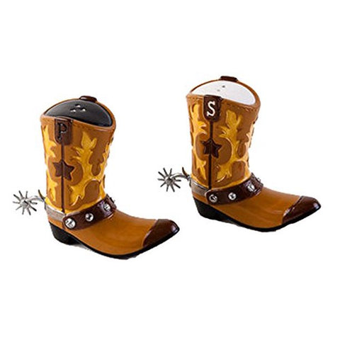180 Degrees - Cowboy Boot Salt & Pepper Shaker Set