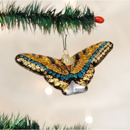 "Old World Christmas ""Swallowtail Butterfly"" Glass Ornament"
