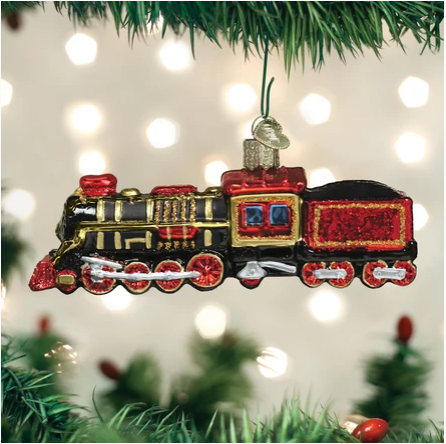"Old World Christmas ""Train"" Glass Ornament"