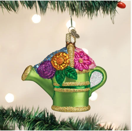 "Old World Christmas ""Watering Can"" Glass Ornament"