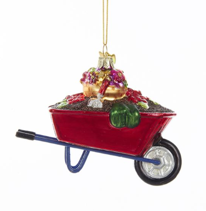 "Noble Gems ""Wheel Barrow"" Ornament"