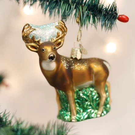 "Old World Christmas ""Whitetail Deer"" Glass Ornament"