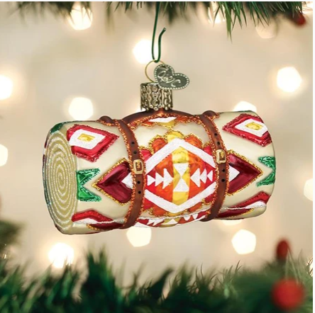 "Old World Christmas ""Wool Blanket"" Glass Ornament"