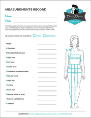 Printable Measurements Worksheet