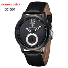 Casual Men's Watch - Leather band - Choose from 8 Band Colors