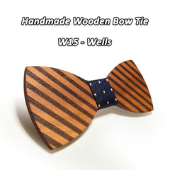 Butterfly Wooden Bow Ties - 12 Styles