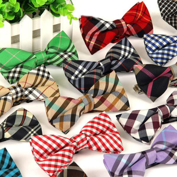 Colorful Plaid Bow Ties -  20 Colors