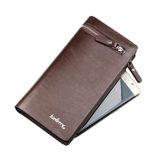 Business Men's Leather Zipper Wallet - 3 Choices