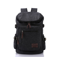Men's Canvas Backpack - Solid for Travel