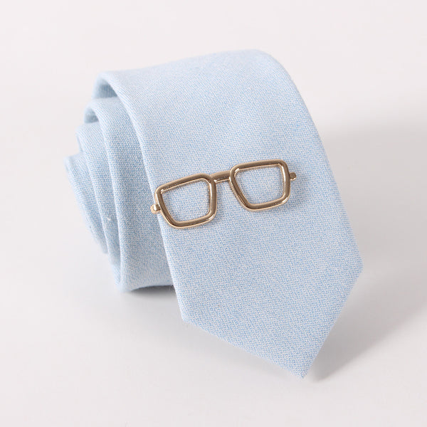 Glasses Tie Clip in Gold