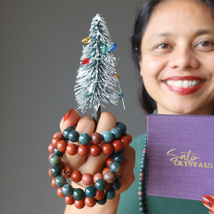 getting festive with crystal healing bracelets
