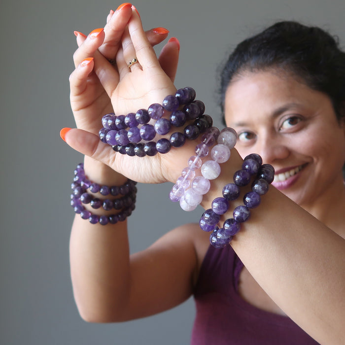 Light or Dark Amethyst Bracelets?