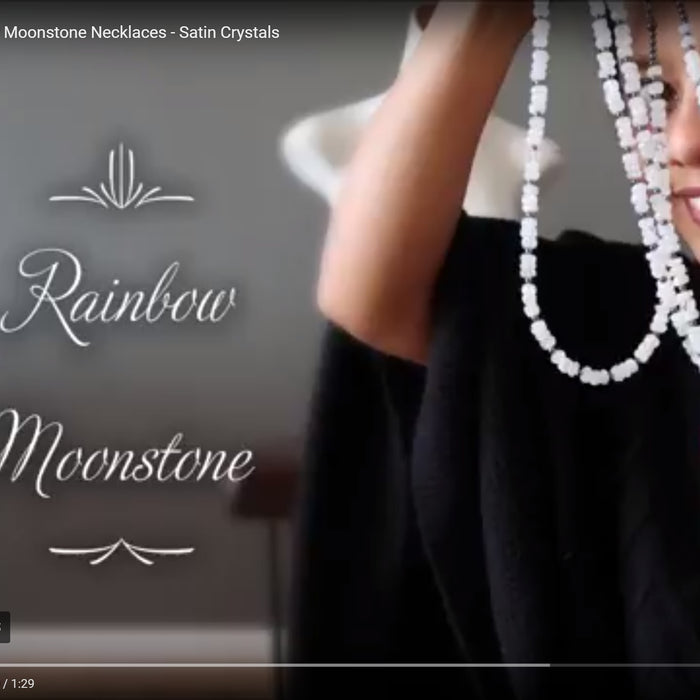 Rainbow Moonstone Necklaces (Video)