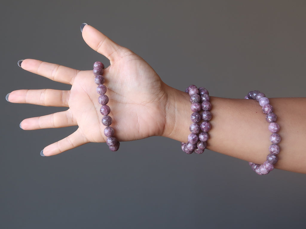 Lepidolite - 3 Crystals for Holiday Stress RElief - Satin Crystals Gift Guide
