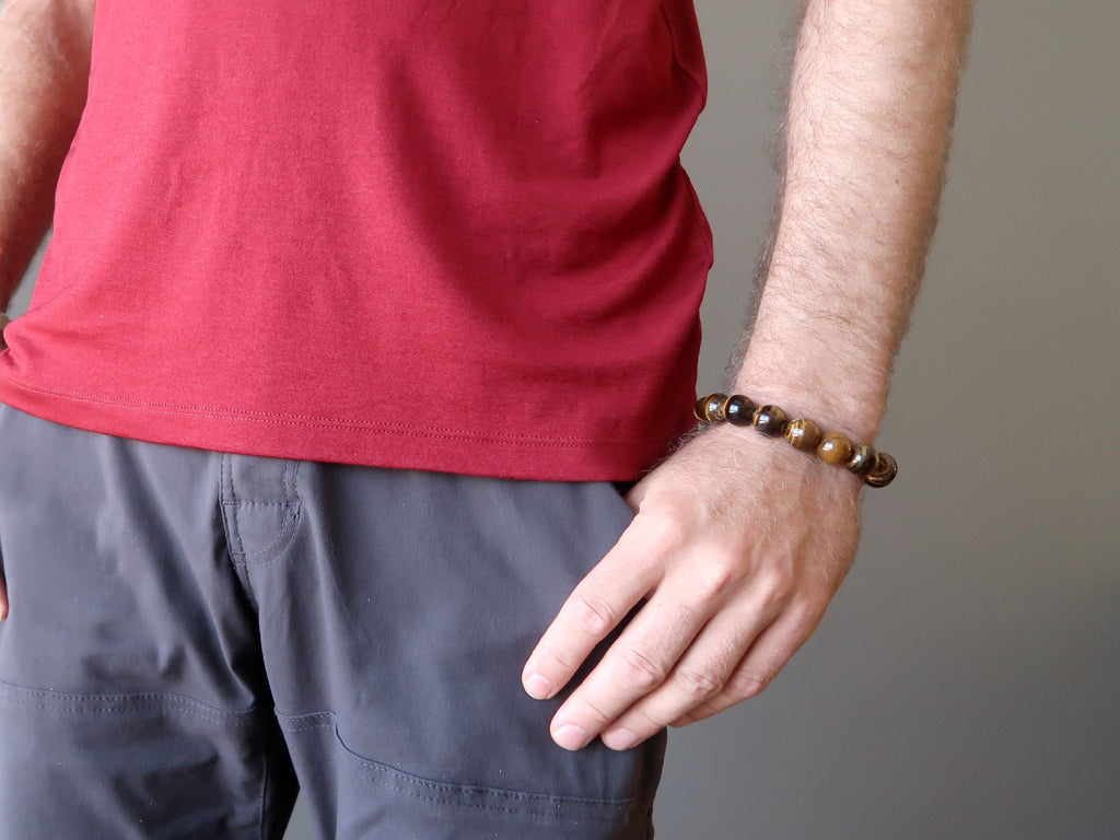 golden tigers eye bracelets for men