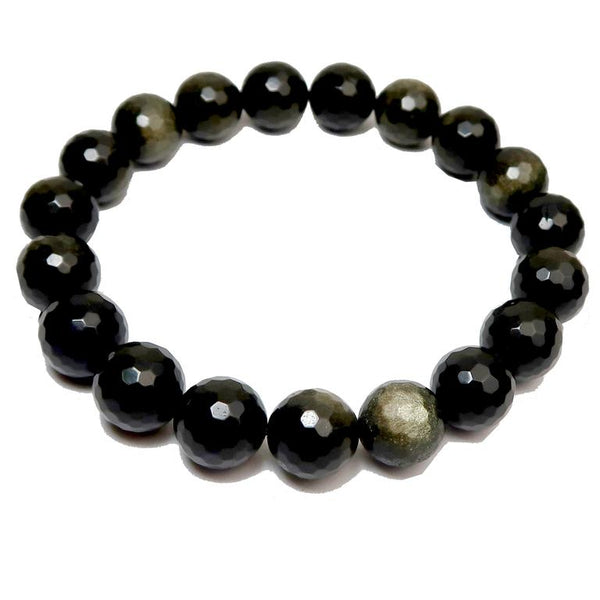Faceted Gold Sheen Obsidian Bracelets