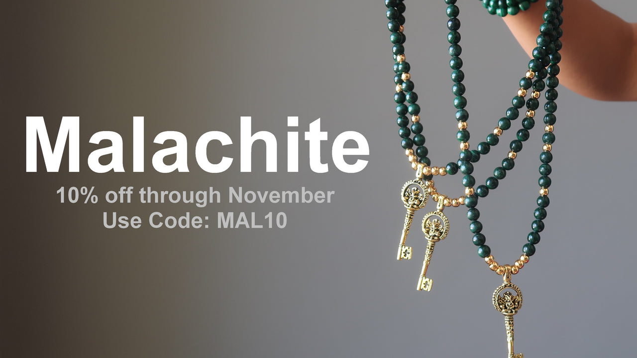 Malachite Promotion 10% Off Sale - Satin Crystals Shop