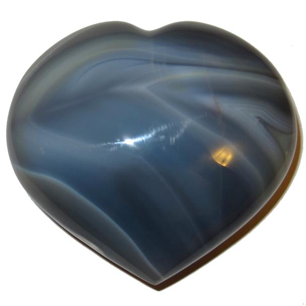 How to Heal the Throat Chakra? Blue Lace Agate Heart.